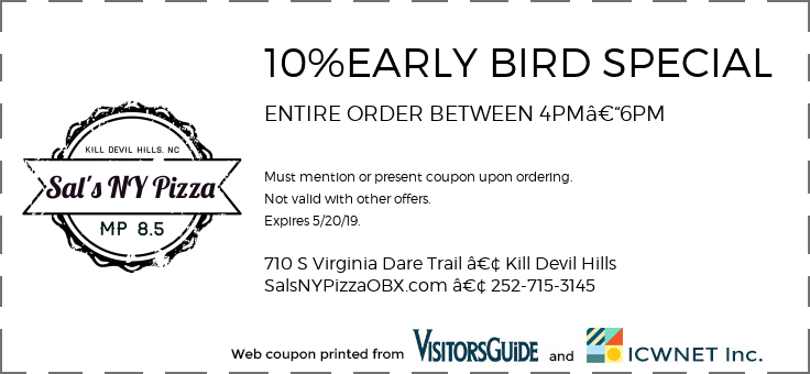 10%EARLY BIRD SPECIAL